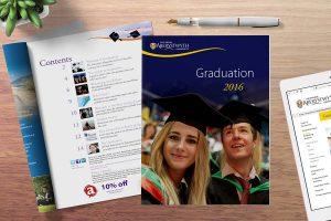 Graduation programme Design for Print Howard Adair