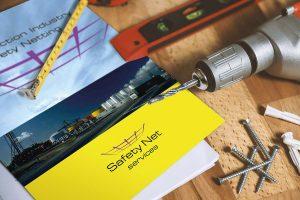 Safety Net Services folder Design for Print Howard Adair